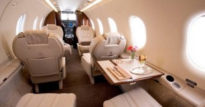 Pilatus jet interior