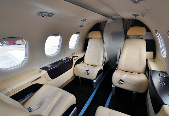 Phenom 100, Very Light Jet With 4 Seats And Interior Designed By BMW